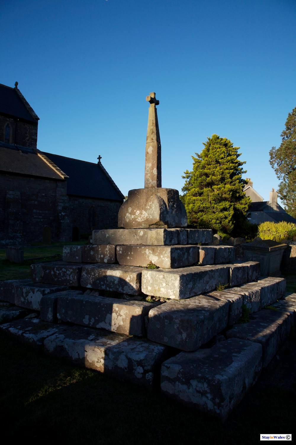Preaching Cross at Trellech, Monmouthshire
