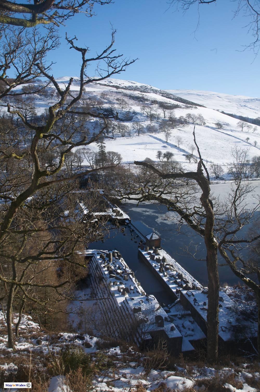 Dol-y-Mynach dam in the Elan Valley