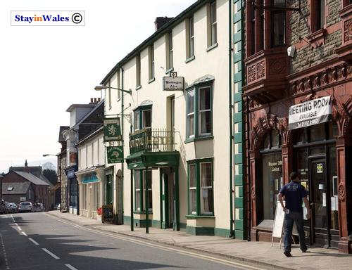 The Lion Royal Hotel in Rhayader, Mid Wales