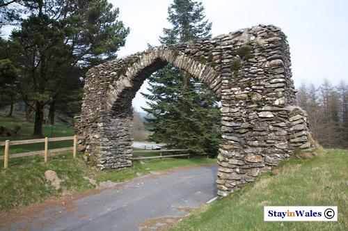 Arch on the Devil's Bridge Elan Valley road