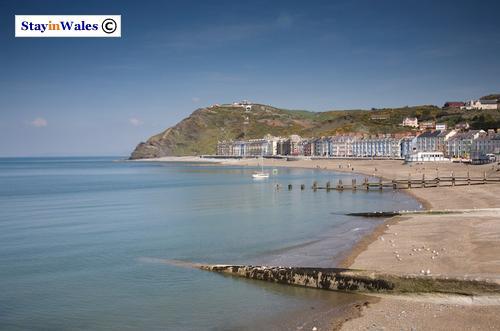 Aberystwyth beach and promenade