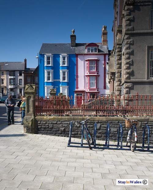 Houses on Portland Street, Aberystwyth