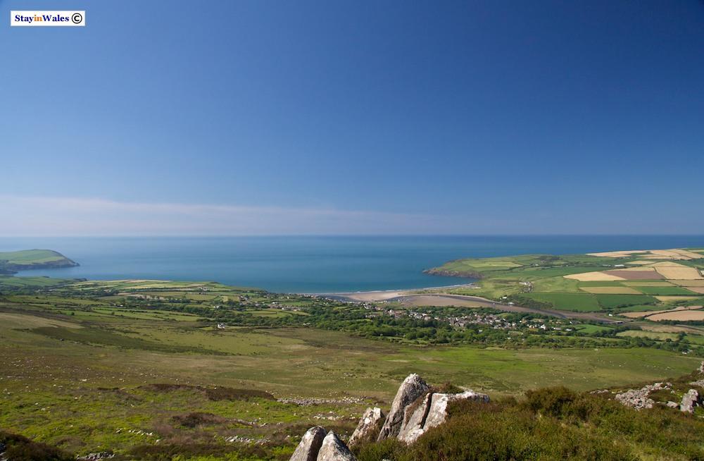Panoramic view from Mynydd Carningli