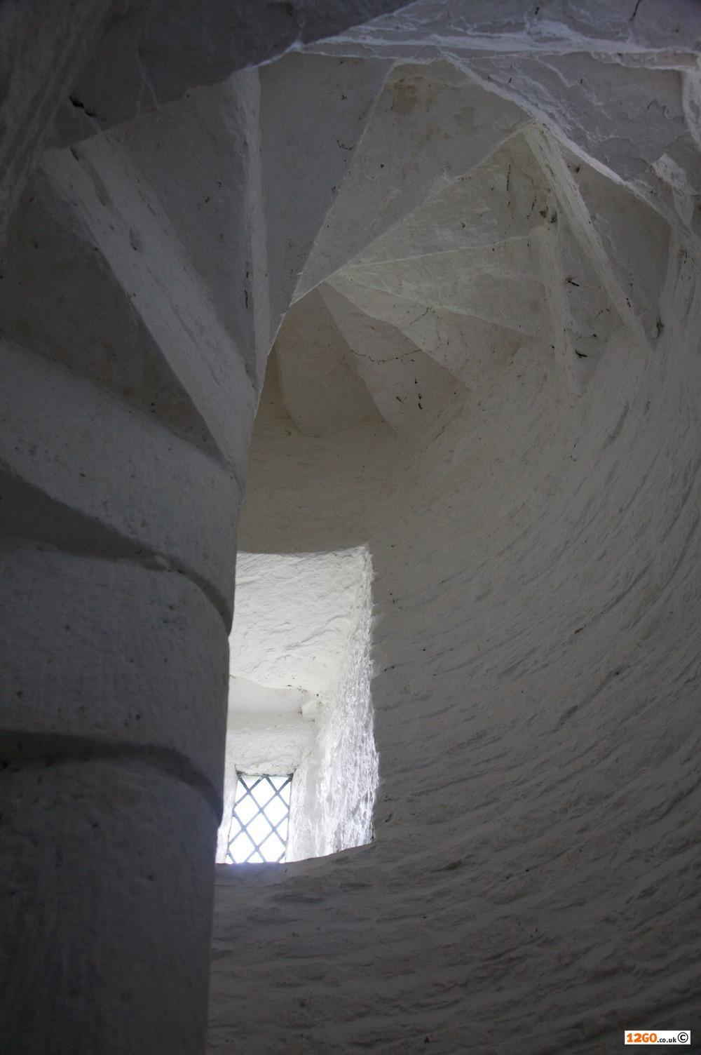 Pilleth church spiral stone stairs