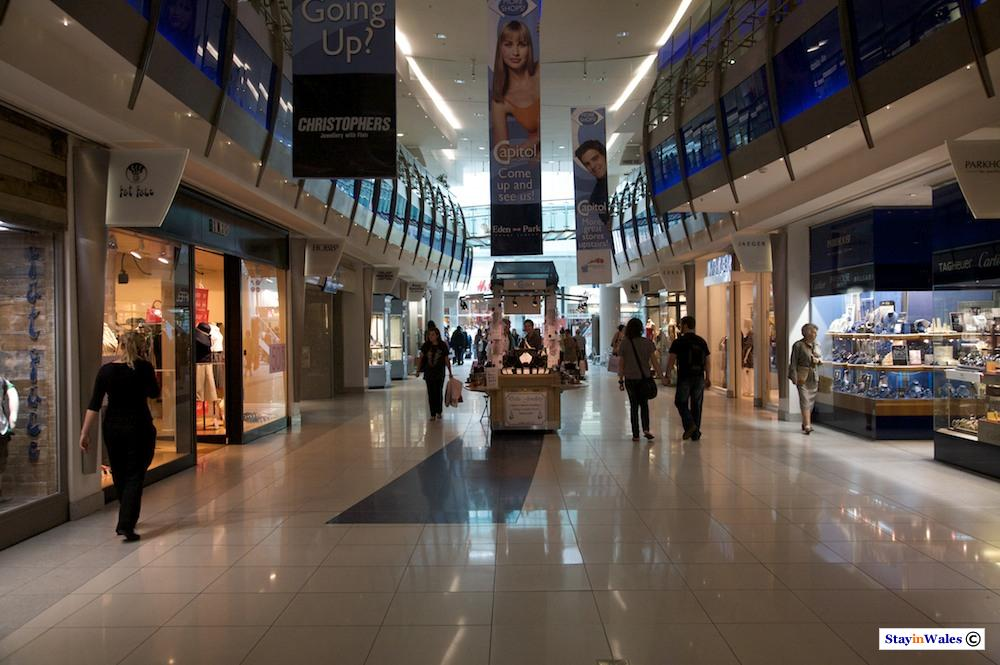 Interior of the Capitol shopping centre, Cardiff