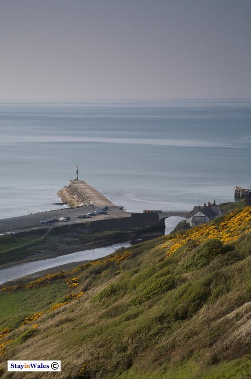 Aberystwyth breakwater and River Ystwyth