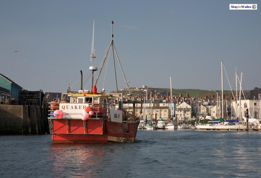 Trawler in Aberystwyth harbour