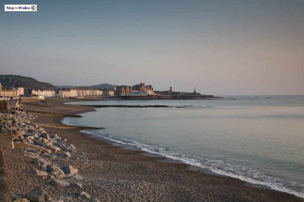 Aberystwyth beach at Sunset