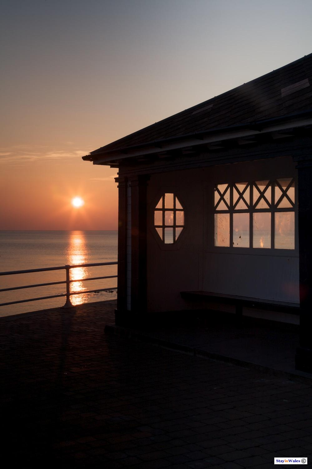 Seafront Shelter at Sunset