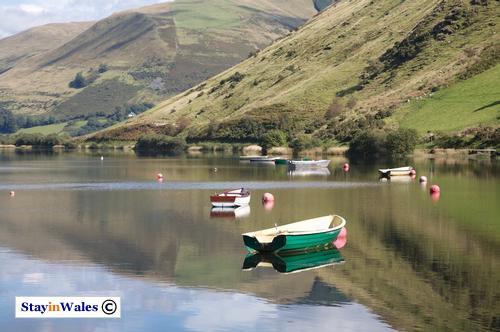 Fishing boats on Tal-y-Llyn Lake