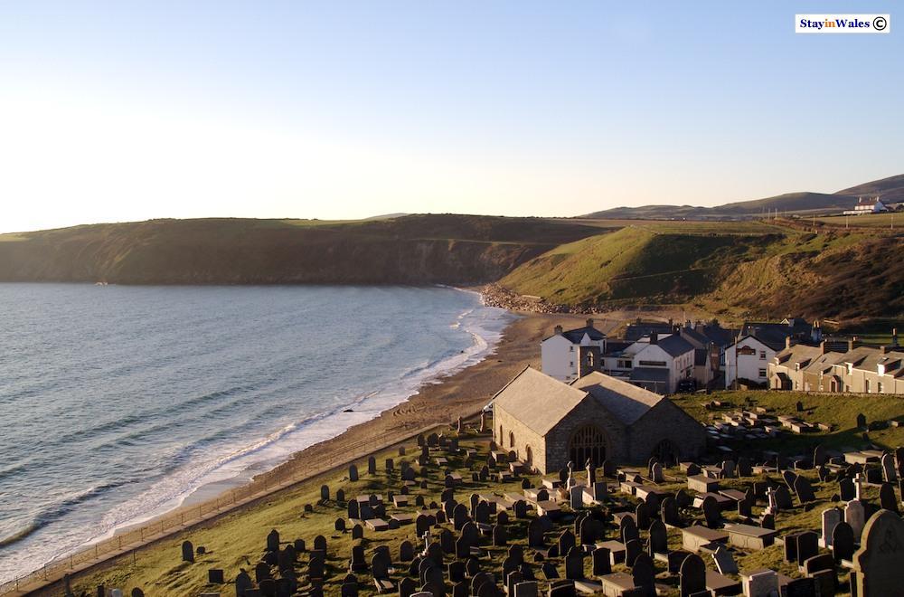 Aberdaron church and beach
