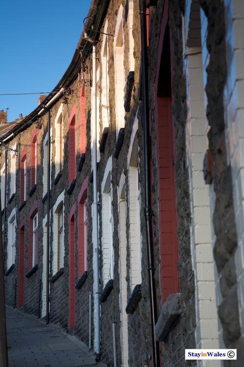 Terraced houses Brynhyfryd Street Tylorstown