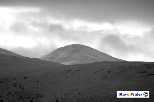 snow on Pen y Fan