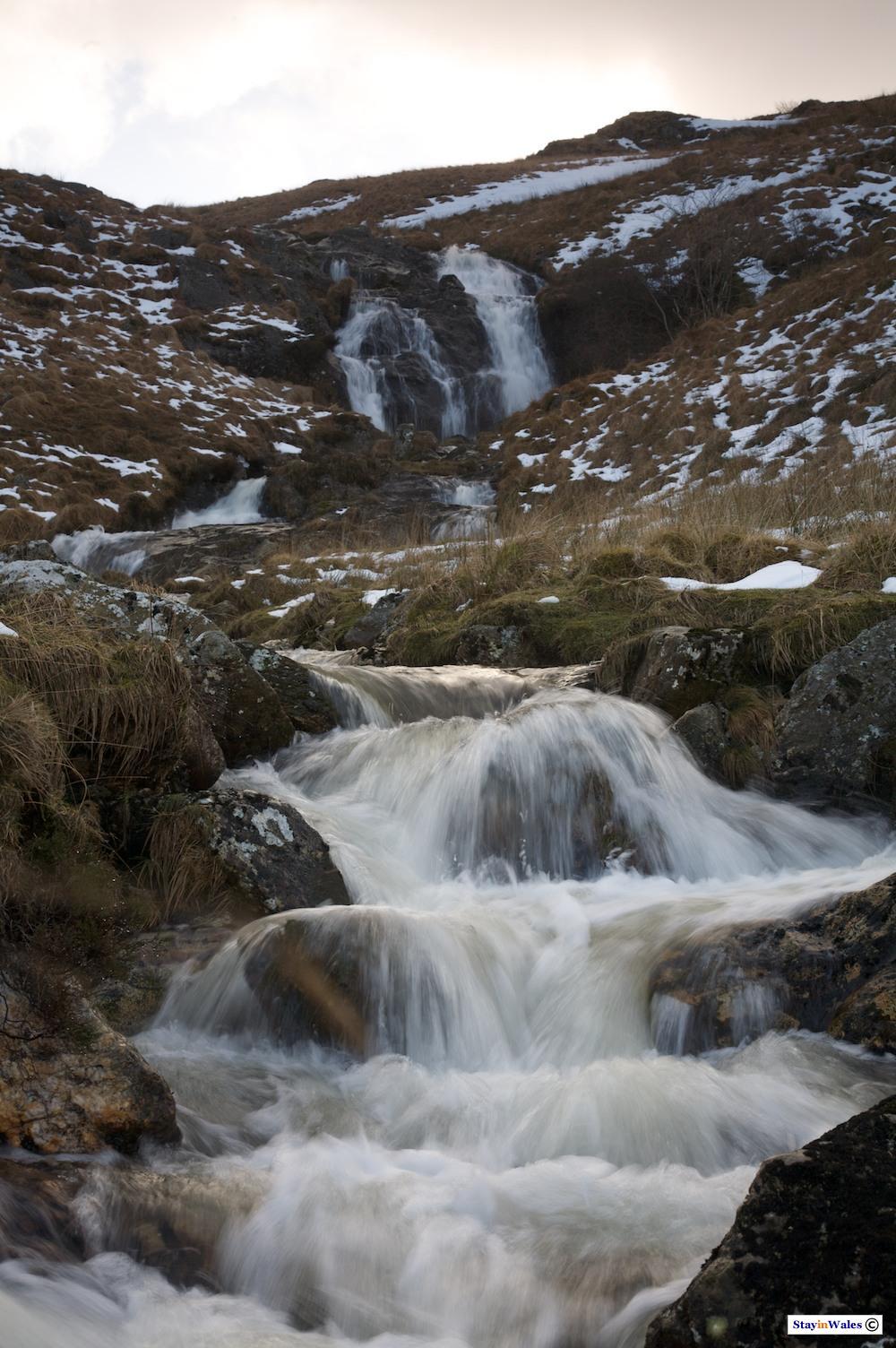 Nant Paradwys waterfall