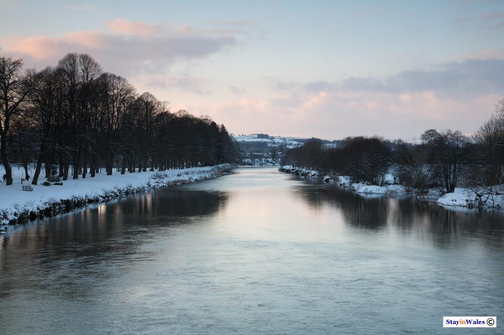 River Wye and snow