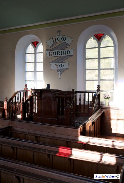 Pulpit of Soar y Mynydd Chapel, Carmarthenshire