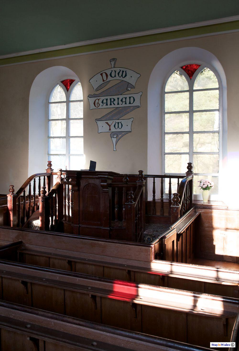 Pulpit of Soar y Mynydd Chapel, Carmarthenshire