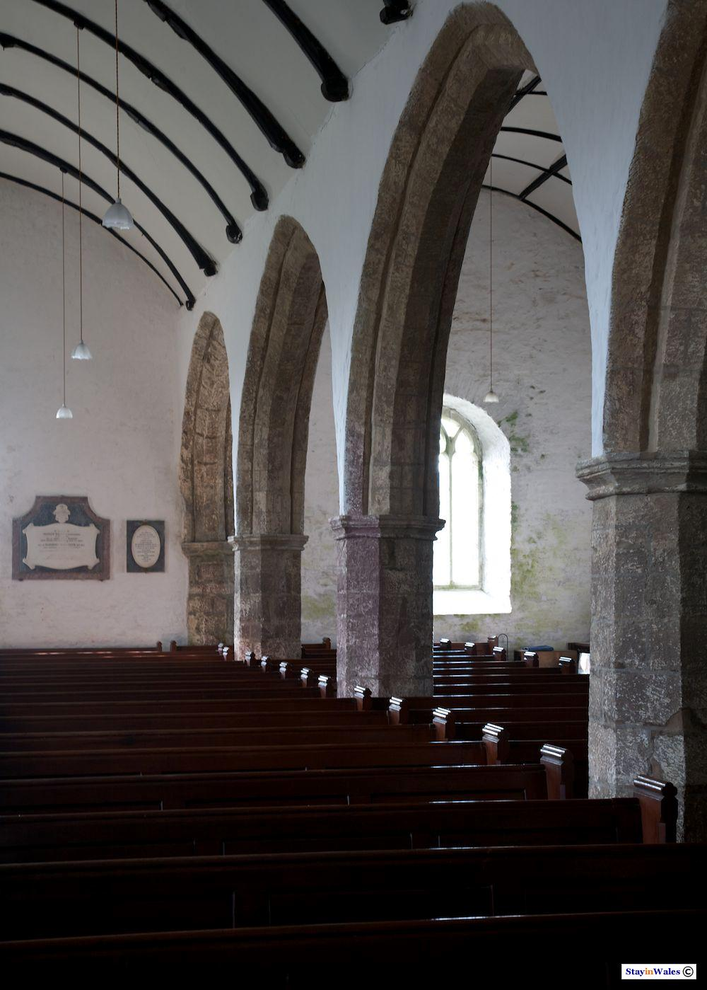 Arches in St Michael's Church, Myddfai