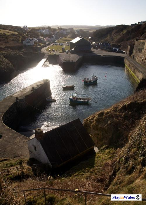 Porthgain harbour and village