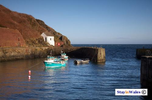 Fishing boats in Porthgain harbour, Pembrokeshire