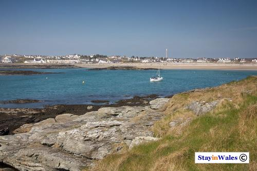 Trearddur Bay beach and village