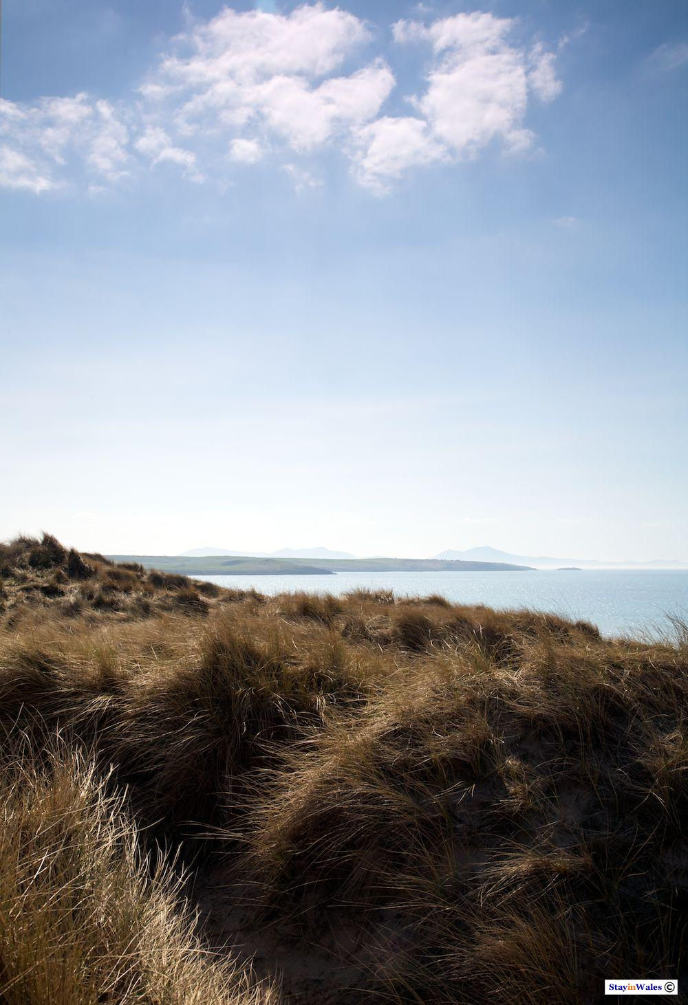 View from sand dunes at Traeth Llydan