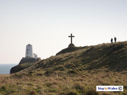 Llanddwyn Island Lighthouse and Cross