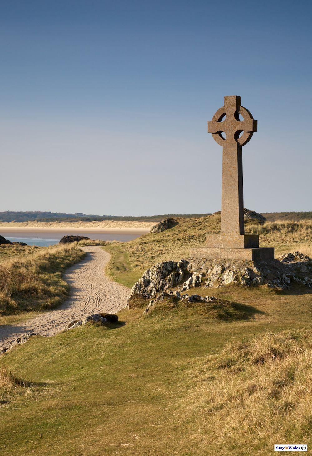 Celtic Cross on Llanddwyn, Anglesey