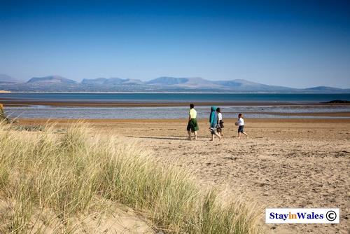 Newborough Beach and Snowdonia