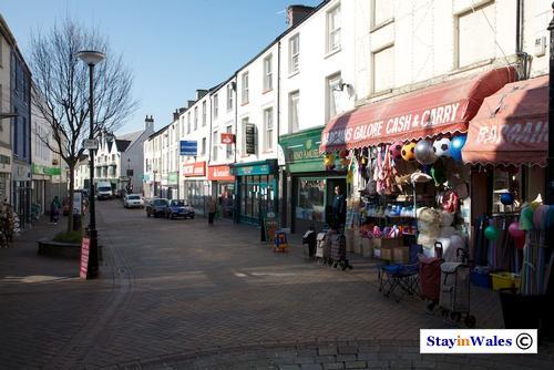 Market Street, Holyhead town centre