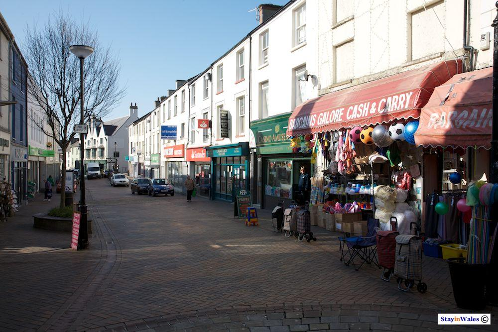 Market Street, Holyhead town centre