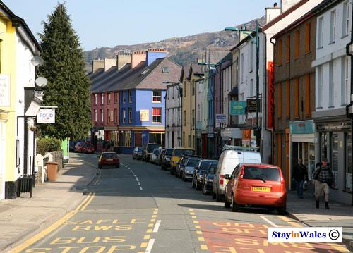 High Street in Llanberis, North Wales