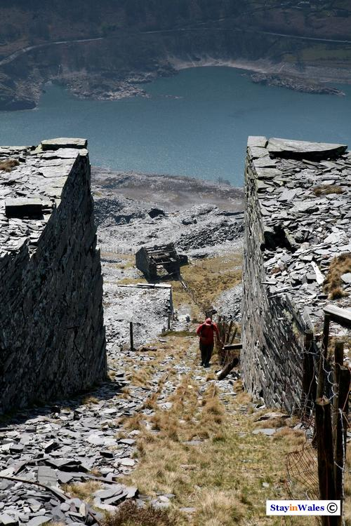 Dinorwic slate quarry incline