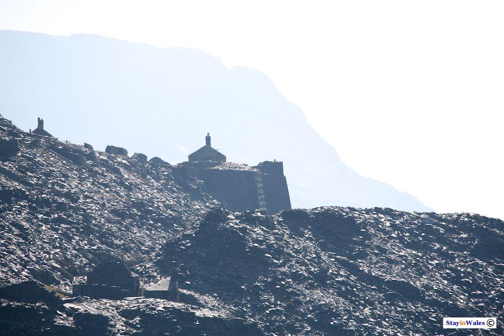 Old slate quarry relics at Dinorwic