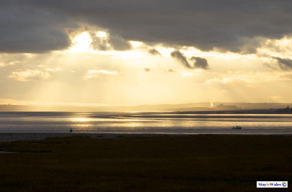 Severn Estuary sunset, Newport