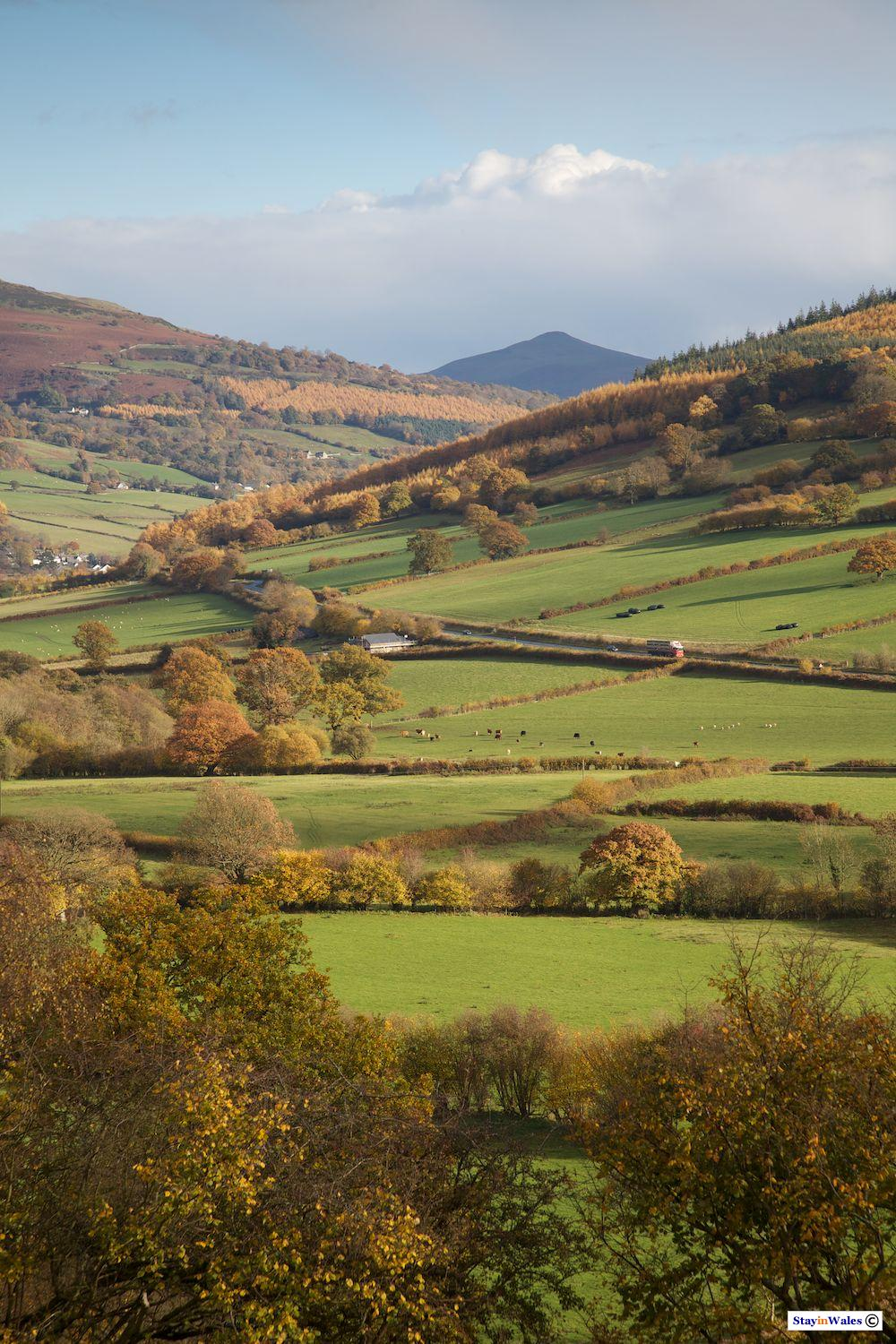 Usk Valley from Bwlch