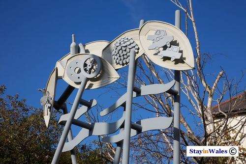 The Crossing sculpture, Briton Ferry