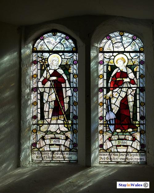 Church window, St Mary's Ystradfellte