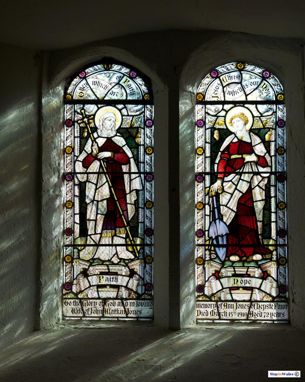 Church window, St Mary's Ystradfellte