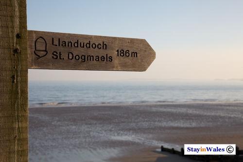 Pembrokeshire coast path waymarker Amroth