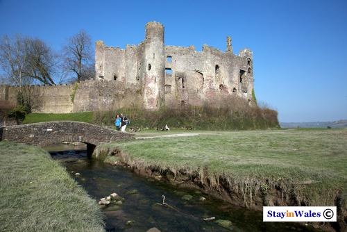 Laugharne Castle and River Coran