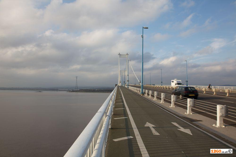 Footpath over the Severn Bridge