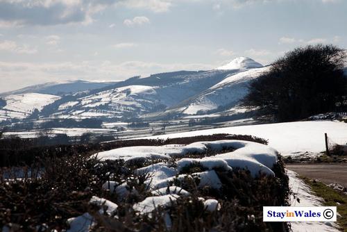 Radnor Forest in snow