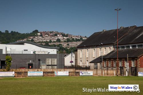 Looking towards Pontymister from the football pitch at Risca