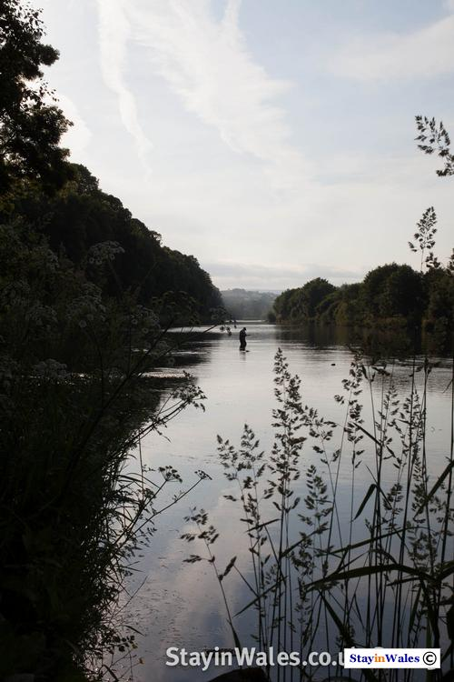 River Wye Fisherman at Dusk