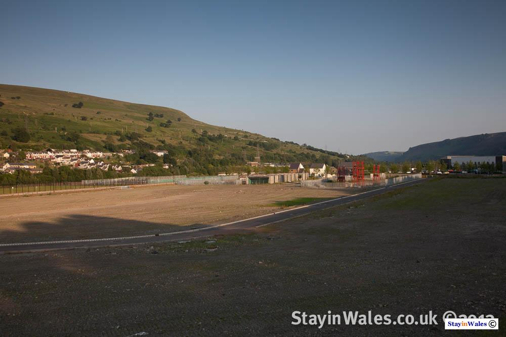 Old steelworks site Ebbw Vale