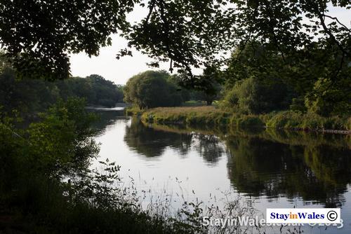 Irfon meets Wye near Builth