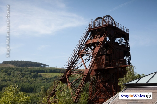 Upcast pit head at Cefn Coed Colliery