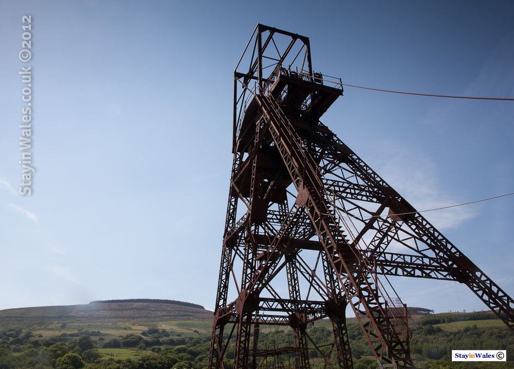 Pit Head at Cefn Coed Colliery