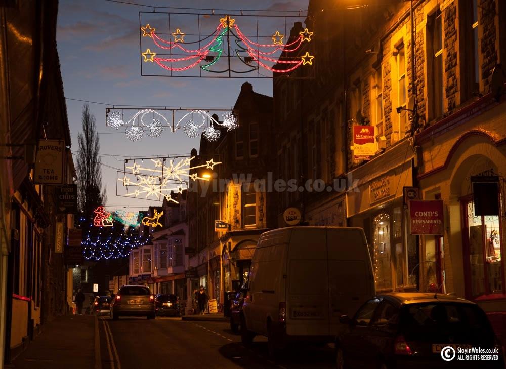 Builth Wells Christmas lights